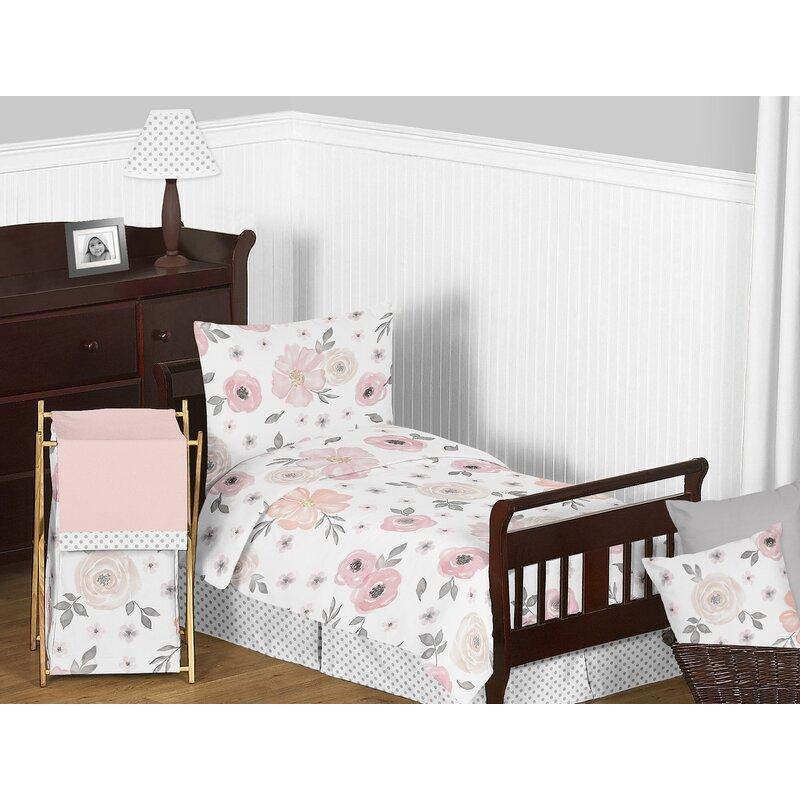 Sweet Jojo Designs Floral Toddler Bedding Set & Reviews ...