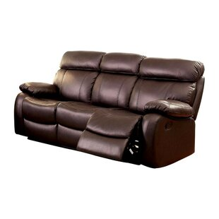 Garbutt Top Grain Recliner Sofa by Red Barrel Studio