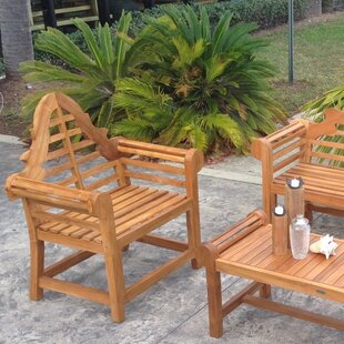 Passarelli Teak Patio Dining Chair