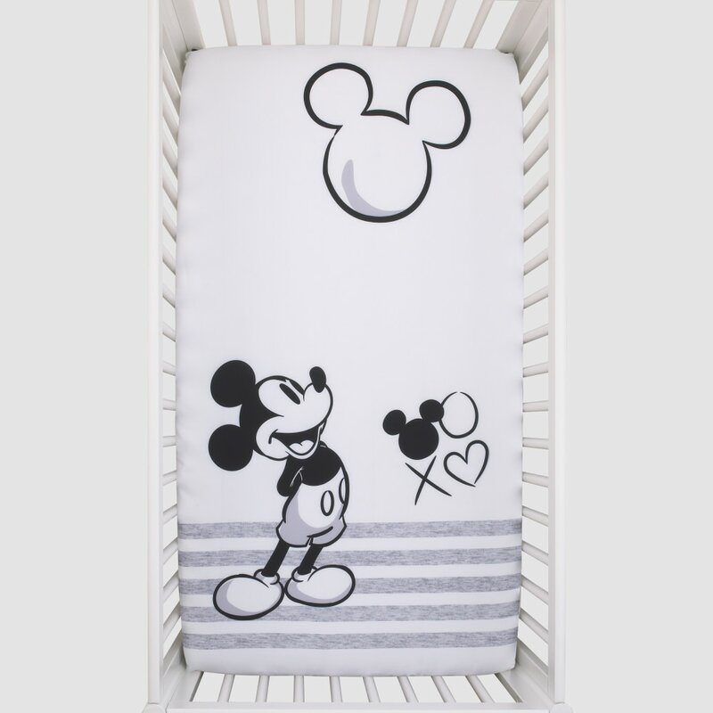 Disney Mickey Mouse Fitted Crib Sheet Wayfair Ca