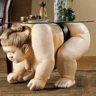Basho the Sumo Wrestler Sculpture End Tab..