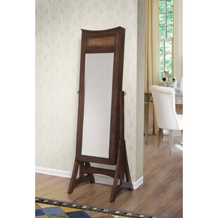 Arkin Free Standing Jewelry Armoire with Mirror