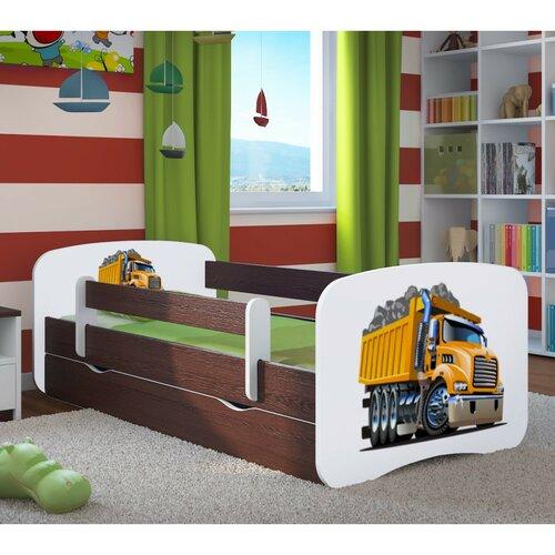 Funktionsbett Caviness mit Matratze und Schublade | Schlafzimmer > Betten > Funktionsbetten | Wenge / weiß | Mdf - Holz - Wenge | Roomie Kidz