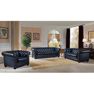 Reviews Kraig 3 Piece Leather Living Room Set by Canora Grey Reviews (2019) & Buyer's Guide
