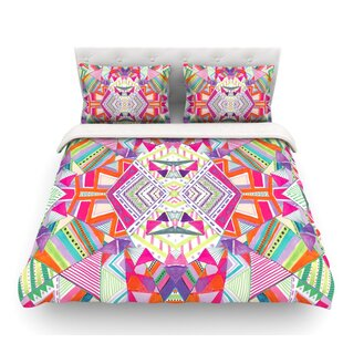 Carrousel by Vasare Nar Geometric Rainbow Featherweight Duvet Cover