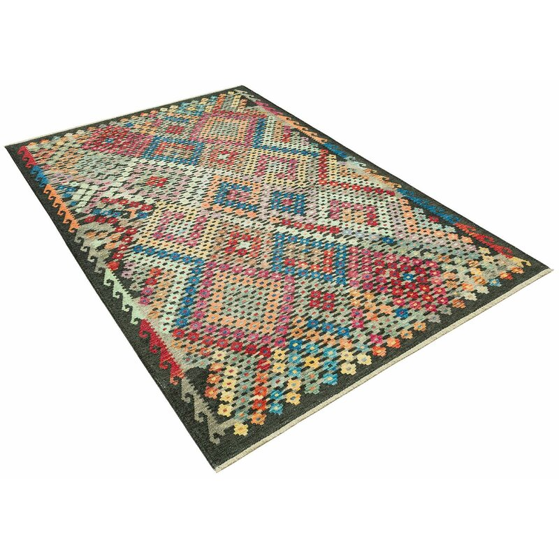 Millwood Pines Stallard Geometric Red Blue Area Rug Wayfair