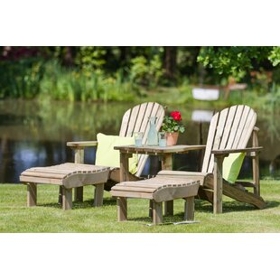 Swynford Wooden Love Seat With Footstool Image
