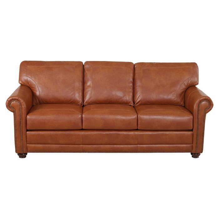 Klaussner Furniture Shelby Leather Sofa & Reviews