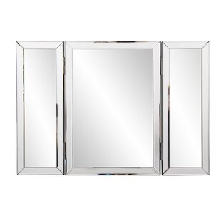 Compare prices Trifold Bathroom/Vanity Mirror By Everly Quinn