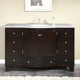 Compare prices Vivaan 55 Single Bathroom Vanity Set ByDarby Home Co