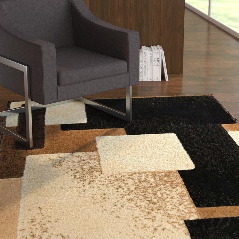 Ebern Designs Yehuda Traditional Black Beige Area Rug Wayfair