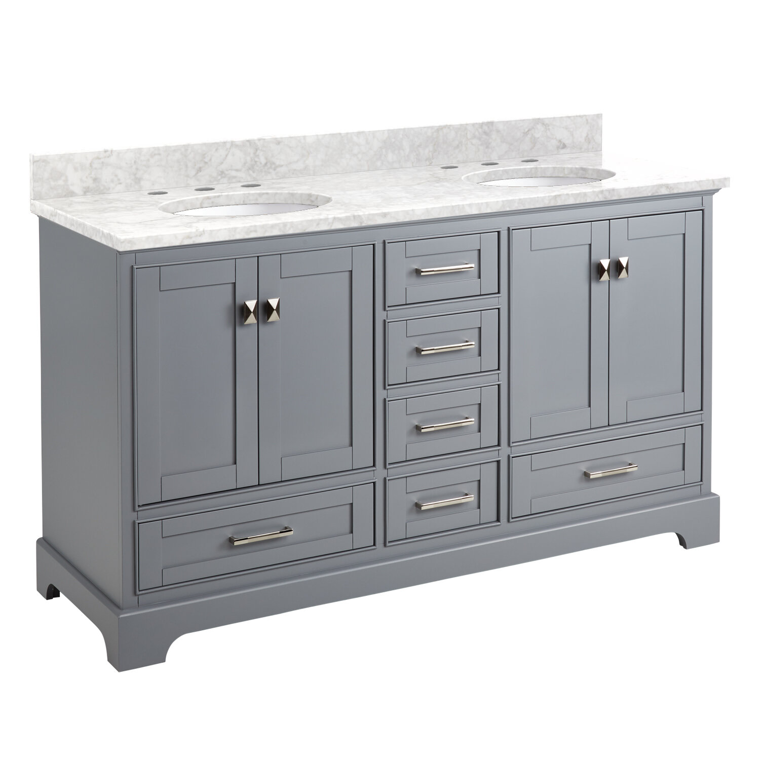 Signature Hardware Quen 61 Double Bathroom Vanity Set