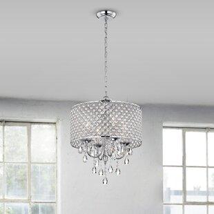 Willa Arlo Interiors Aldgate 4-Light Crystal Chandelier