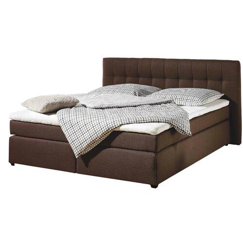 Boxspringbett Marsa   Schlafzimmer   Braun   Stoff - Massivholz - Strukturstoff - Polyester - Viskose   Home Loft Concept