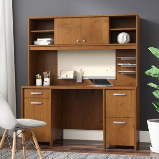 Read Reviews Envoy Executive Desk with Hutch By Latitude Run