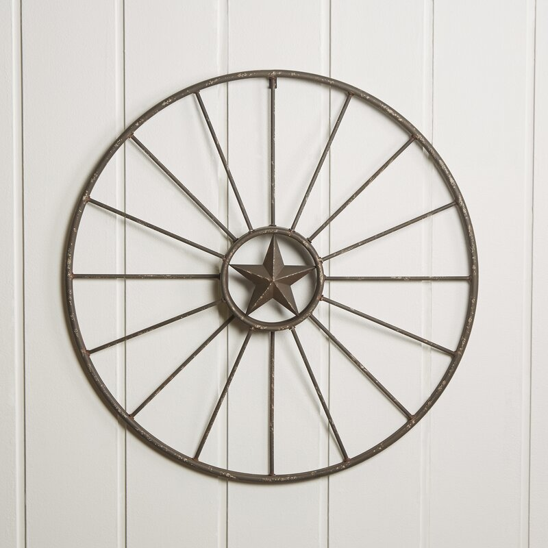 Wagon Wheel Wall Decor rustic wagon wheel wall decor & reviews | birch lane