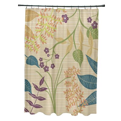 Alcott Hill Orchard Lane Polyester Botanical Floral Single Shower Curtain
