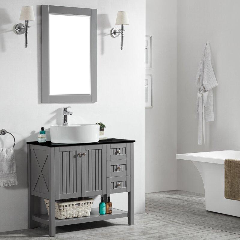 "Gracie Oaks Ashe 36"" Single Bathroom Vanity Set with ..."