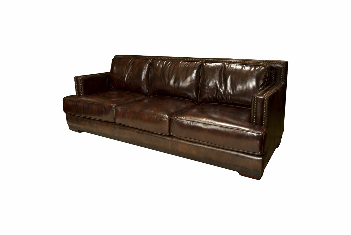 Elements Fine Home Furnishings Emerson Leather Sofa & Reviews