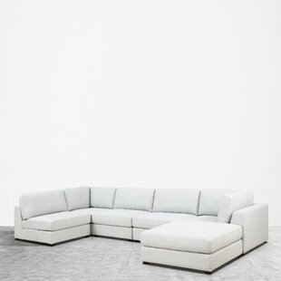 Orren Ellis Kendrick Reversible Modular Sectional with Ottoman