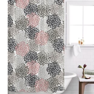 pink and black shower curtain. Save to Idea Board Blush Pink Shower Curtain  Wayfair