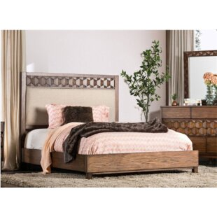Amirah Upholstered Panel Bed by Bungalow Rose