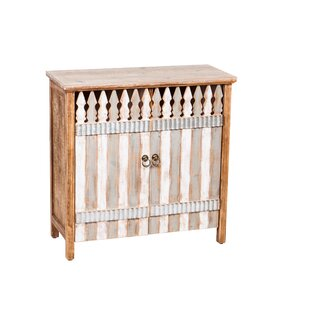 Adela Picket Fence 2 Door Wood Accent Cabinet by Millwood Pines
