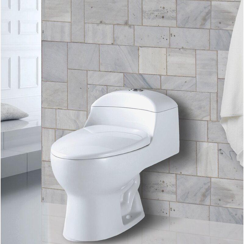 Aqualife Corp Yukon 1.28 GPF Round One-Piece Toilet (Seat Included)