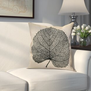 Miller Leaf Study Outdoor Throw Pillow