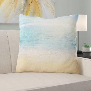 Beach Sand With Sea Waters Euro Pillow