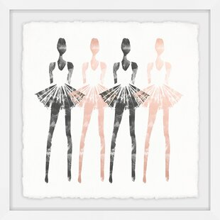 Pink Ballerina Wall Art Wayfair