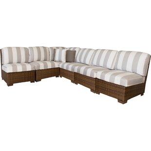 Panama Jack 7 Piece Sectional Set with Cushions