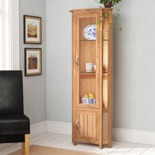 Marley Solid Oak Corner Display Cabinet By Gracie Oaks