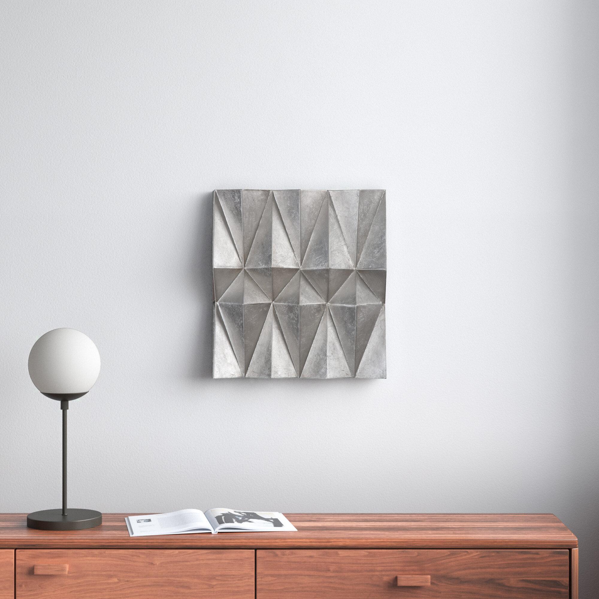 3 Piece Silver Metal Wall Decor Set Reviews Allmodern