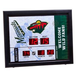NHL Bluetooth Scoreboard Wall Clock ByEvergreen Enterprises, Inc
