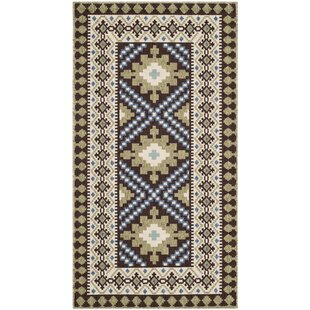 Zahr Chocolate Indoor/Outdoor Area Rug By Bungalow Rose