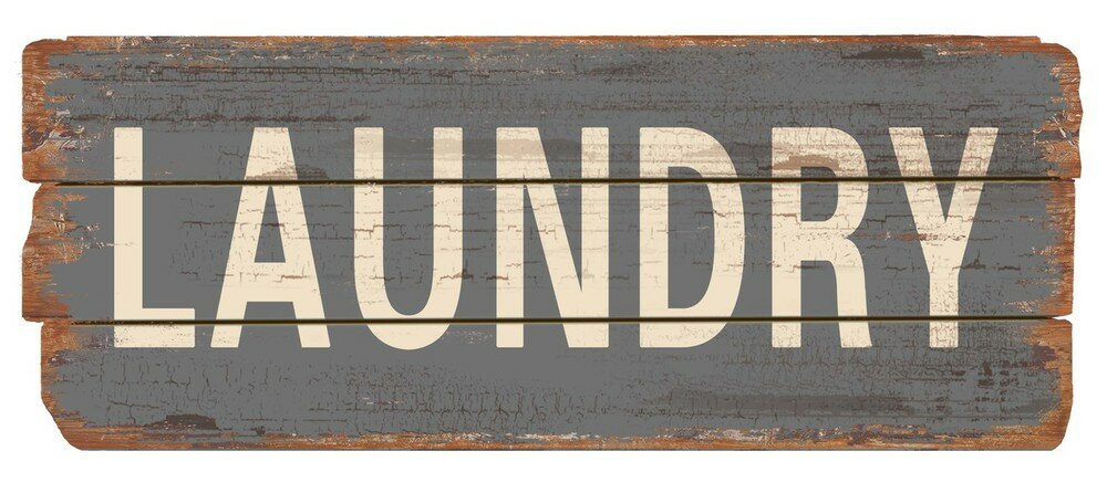 Rustic Laundry Wood Sign Wall Decor