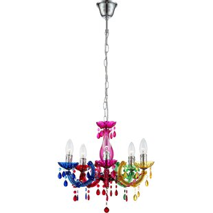 Lincoln 5 Light Candle-Style Chandelier by Fairmont Park