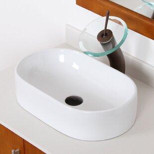 Compare & Buy Ceramic Oval Vessel Bathroom Sink By Elite