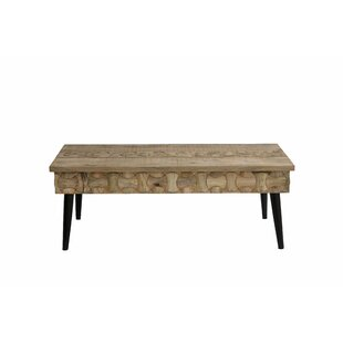 Burkes Interlocked Coffee Table by Union Rustic