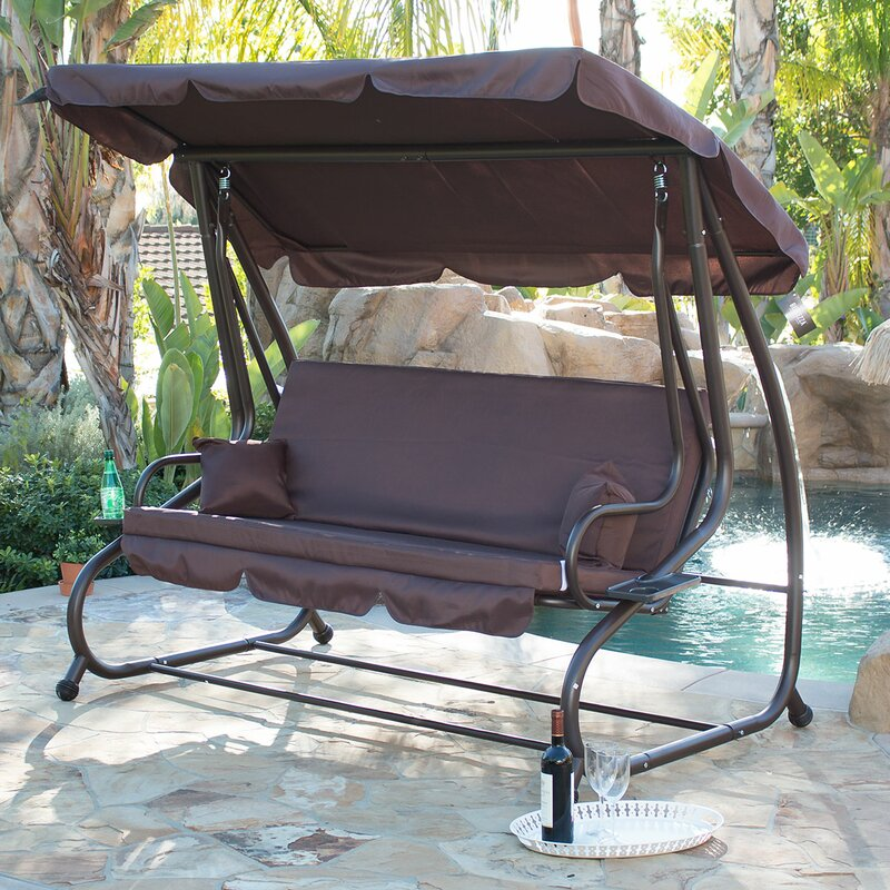 Mossley Canopy Porch Swing with Stand - Fleur De Lis Living Mossley Canopy Porch Swing With Stand & Reviews