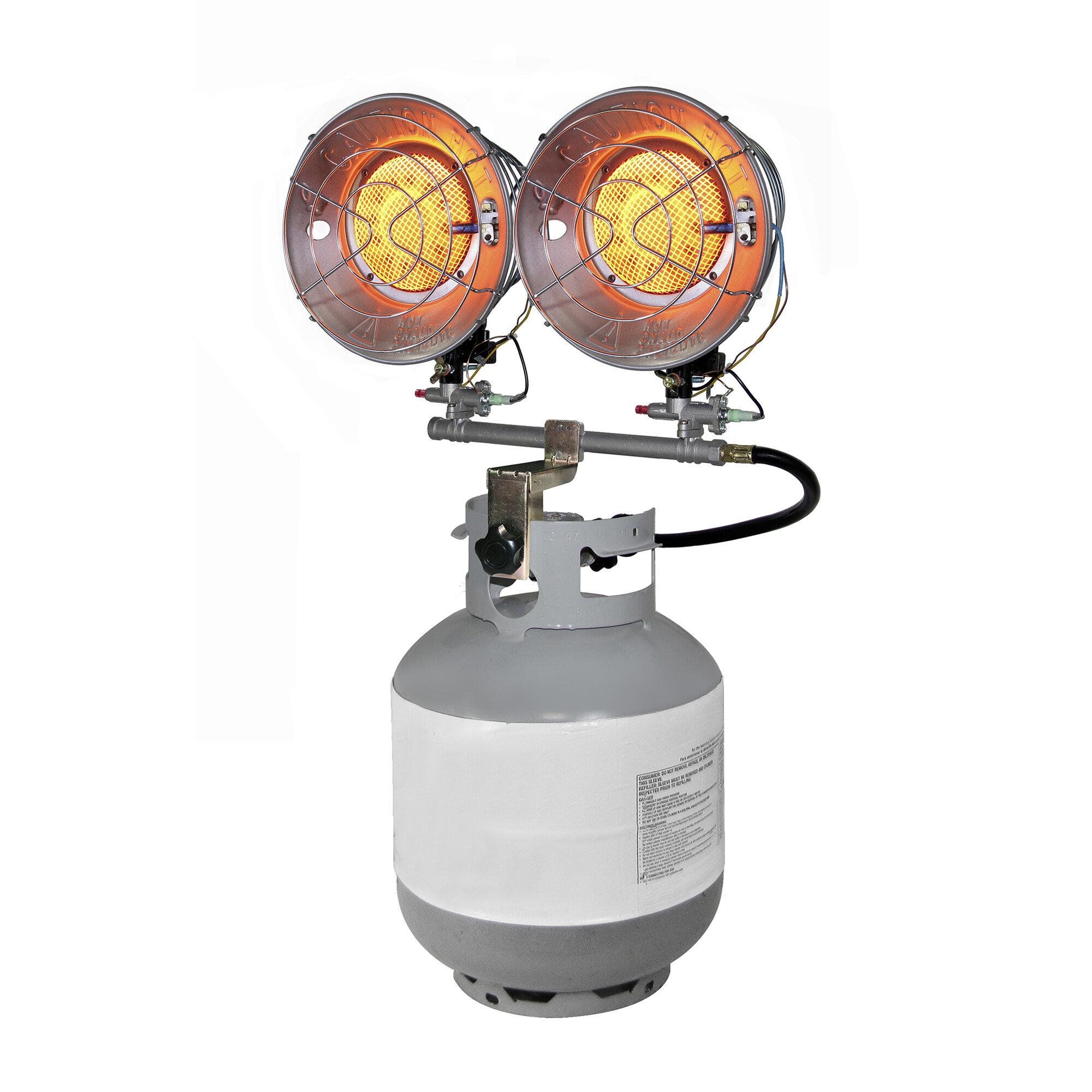 Propane Radiant Heater >> Dyna Glo 15 000 Btu Portable Propane Radiant Tank Top Heater With