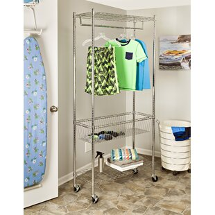 35.5 W Rolling Garment Rack by Honey Can Do