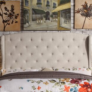 Reviews Siebert Upholstered Wingback Headboard by Winston Porter