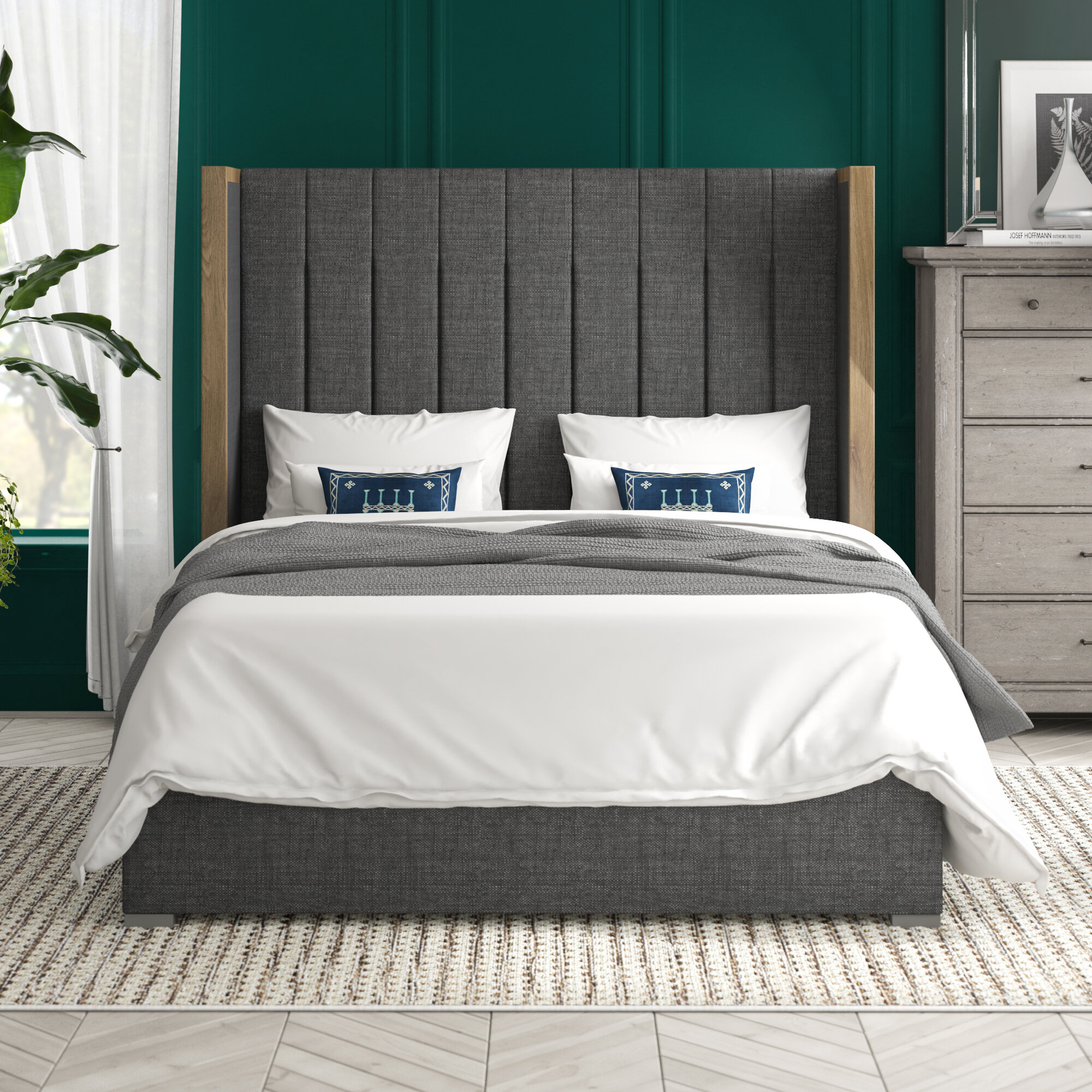 Brayden Studio O Brien Upholstered Platform Bed Reviews Wayfair