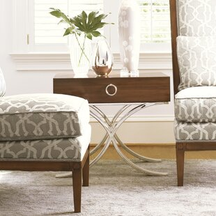 Mirage Hayworth End Table with Storage