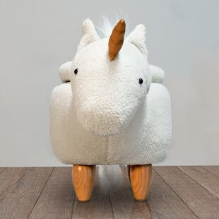 Ivanhoe Unicorn Storage Kids Ottoman by Harriet Bee