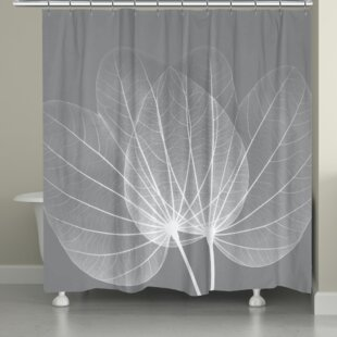 Coupon Arietta Leaves Shower Curtain ByLatitude Run