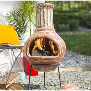 Beyonce Clay Wood Burning Chiminea By Sol 72 Outdoor