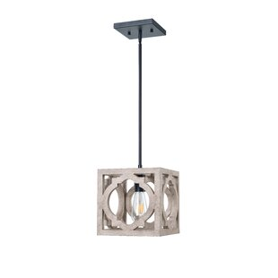 Choi 1-Light Square Pendant by Gracie Oaks